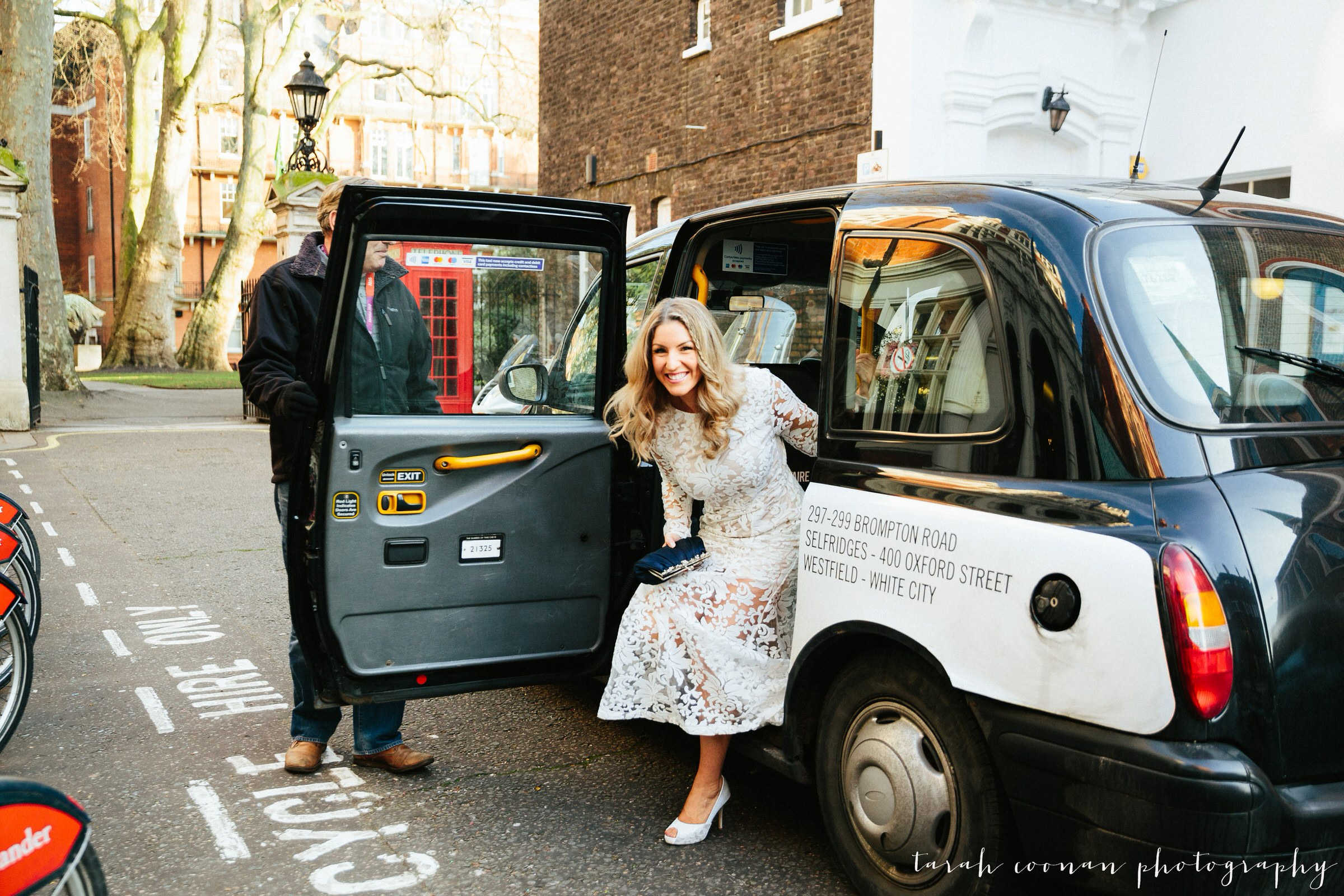 London taxi wedding