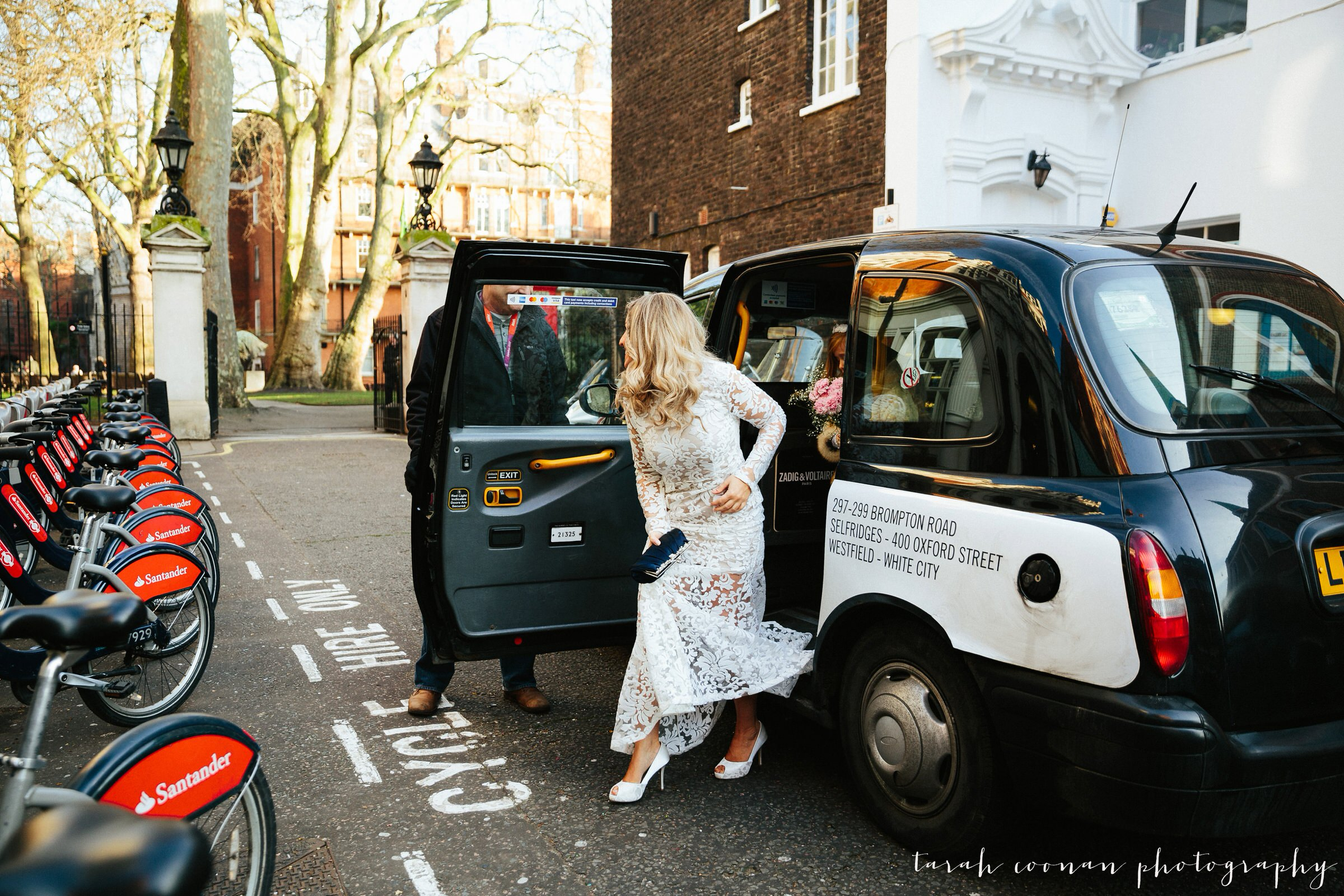 London black cab wedding