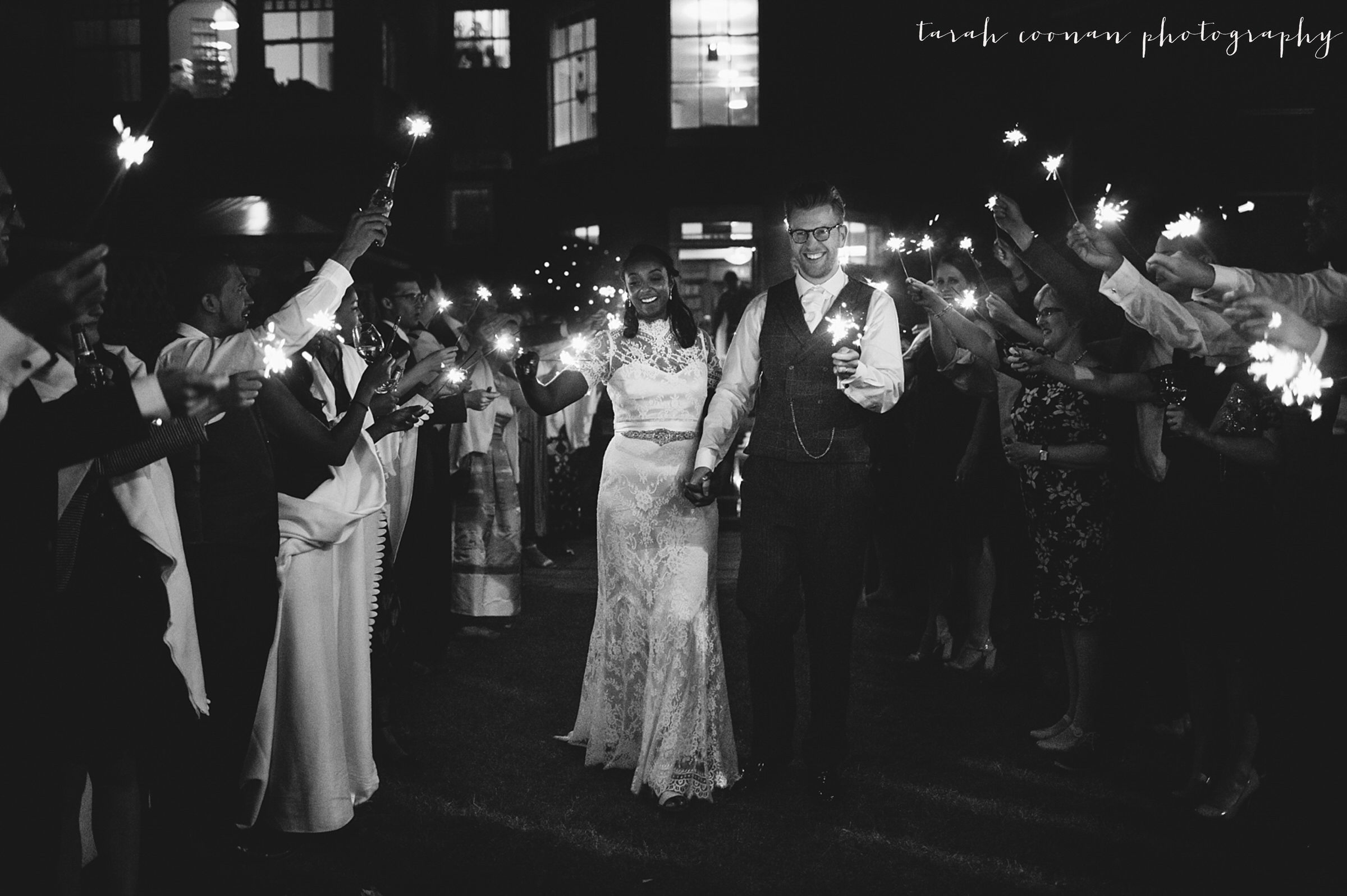 london wedding sparklers