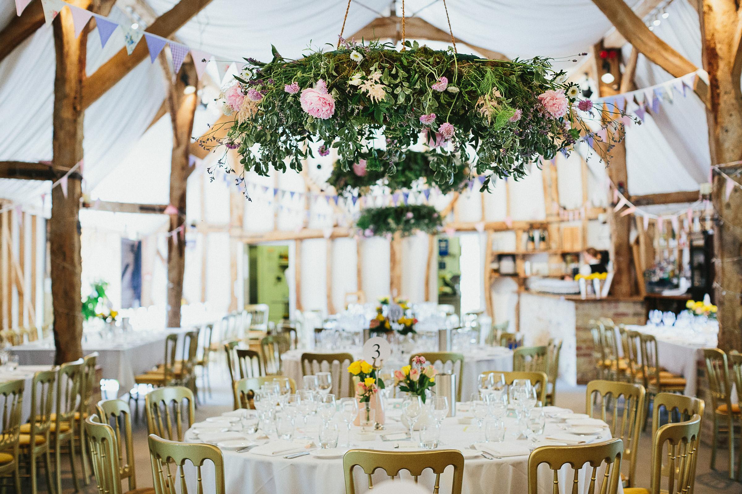 floral wreaths wedding