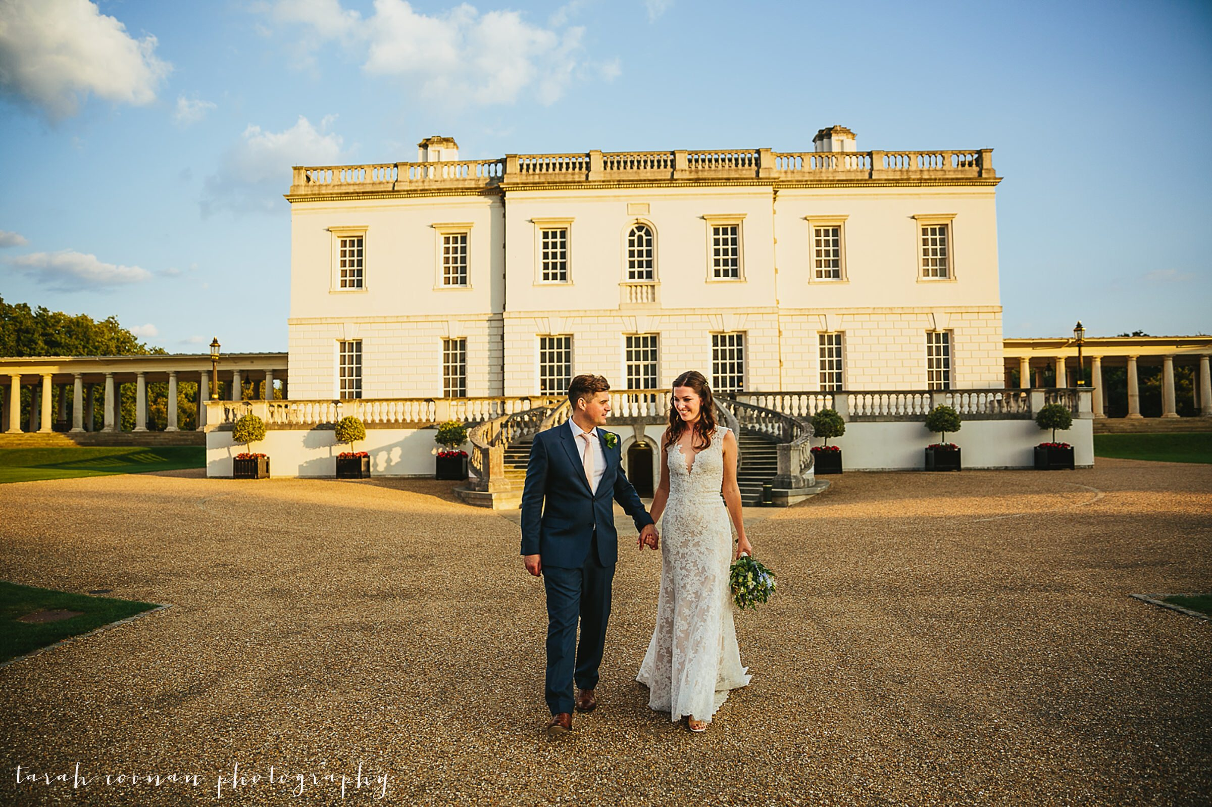 Greenwich bride and groom