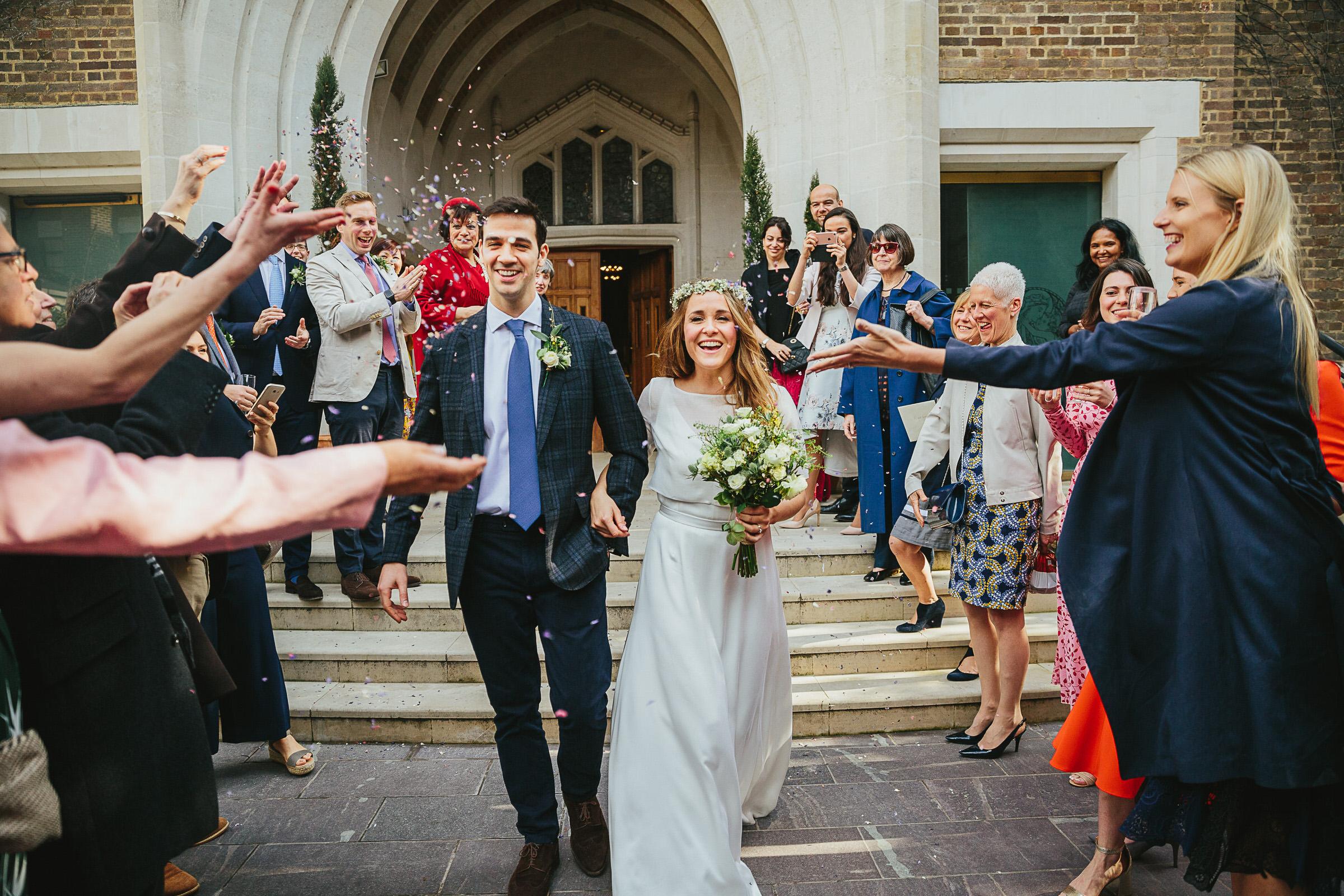 Catholic church Kensington wedding