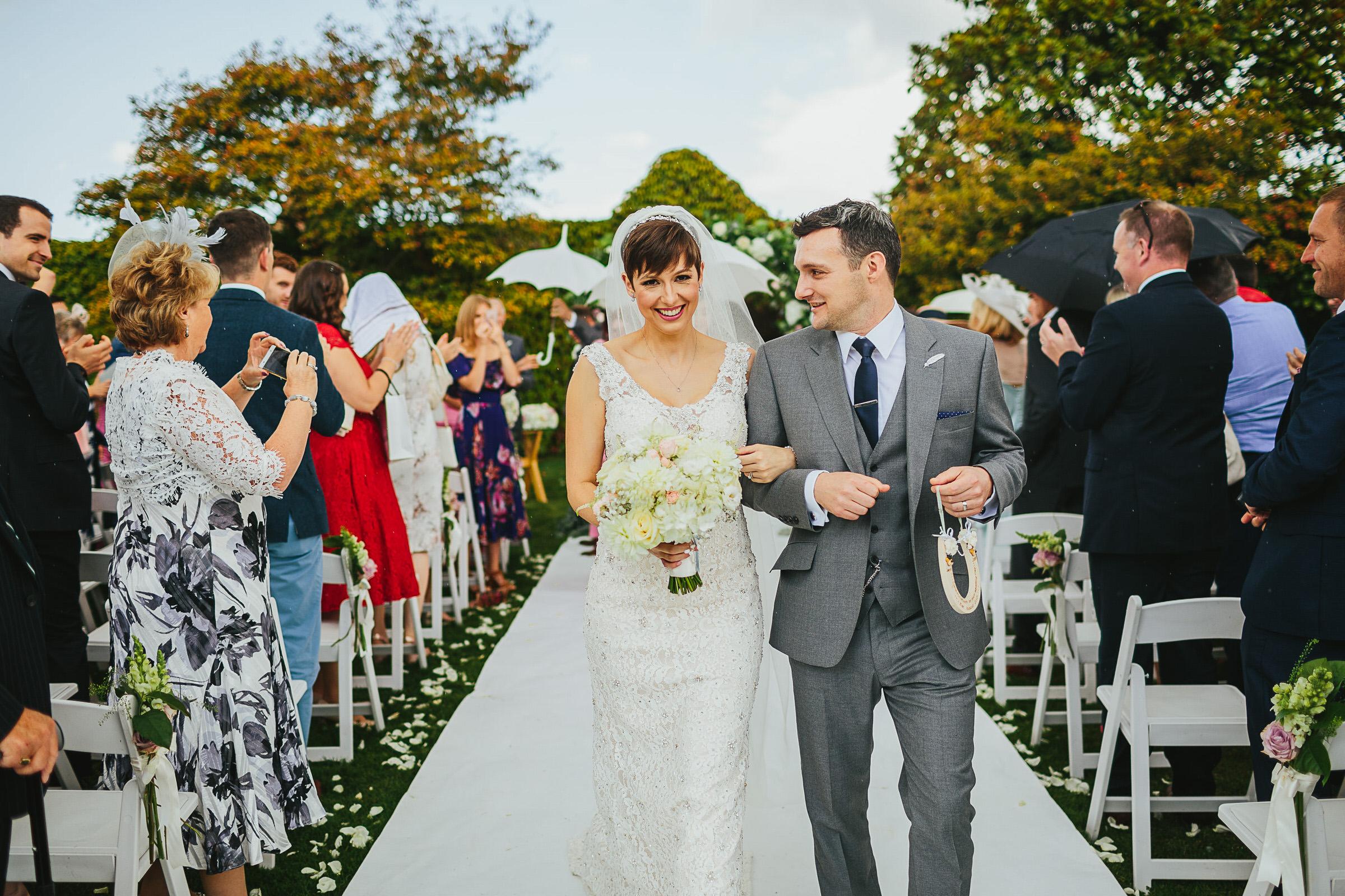 Notley Abbey outdoor wedding - Jess & James