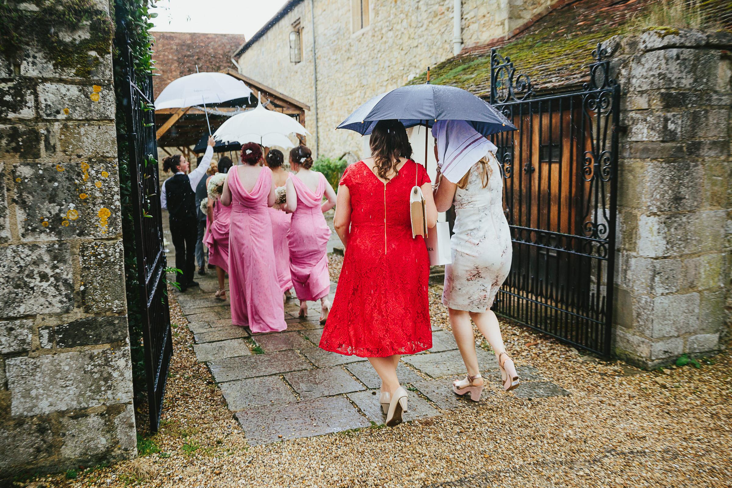Notley Abbey rain
