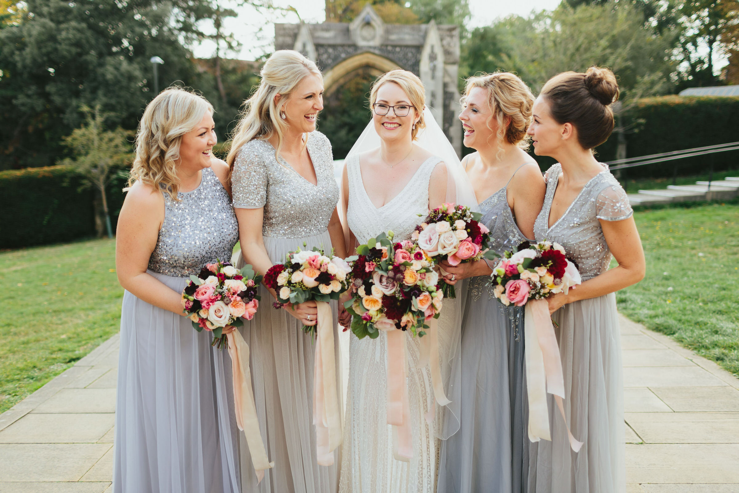 grey sequin bridesmaid dresses