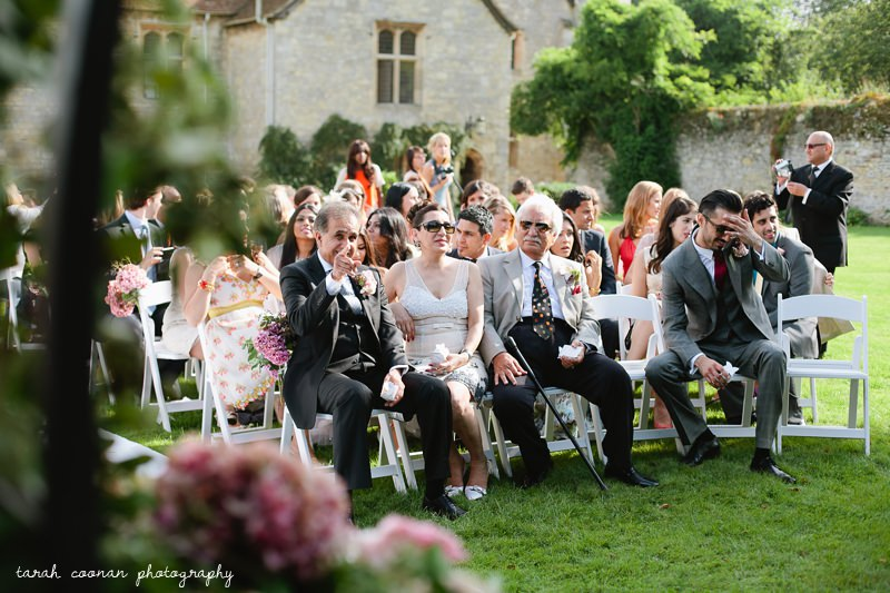 notley abbey wedding ceremony outside