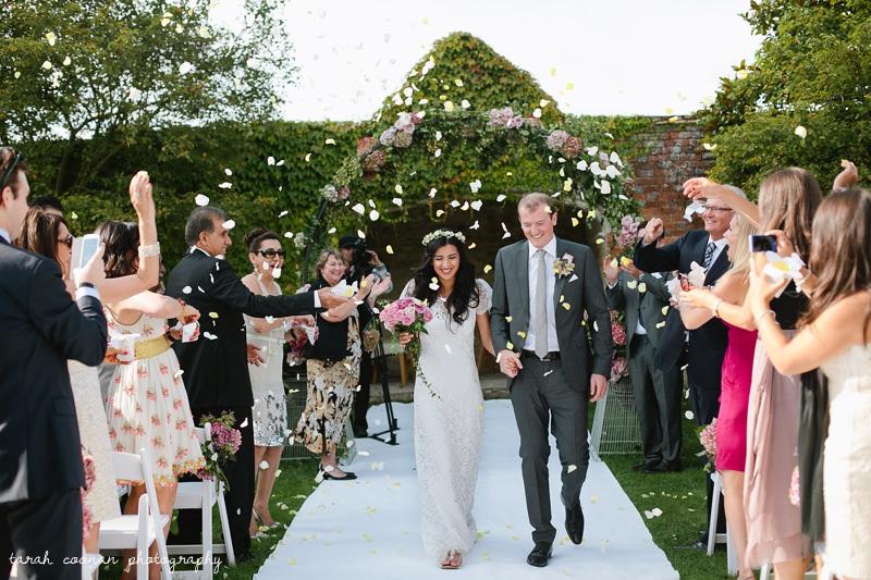 outdoor ceremony confetti