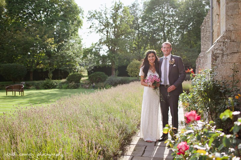 sunshine bride and groom