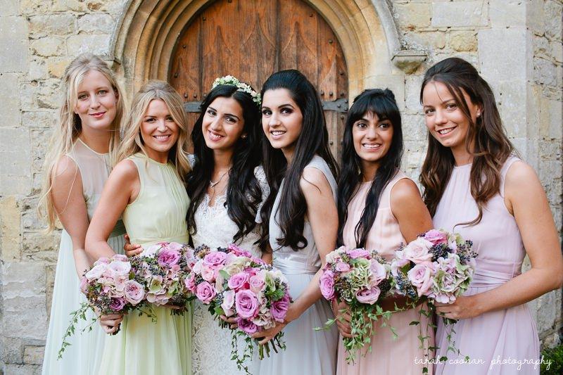 pretty bridesmaids pastel dresses