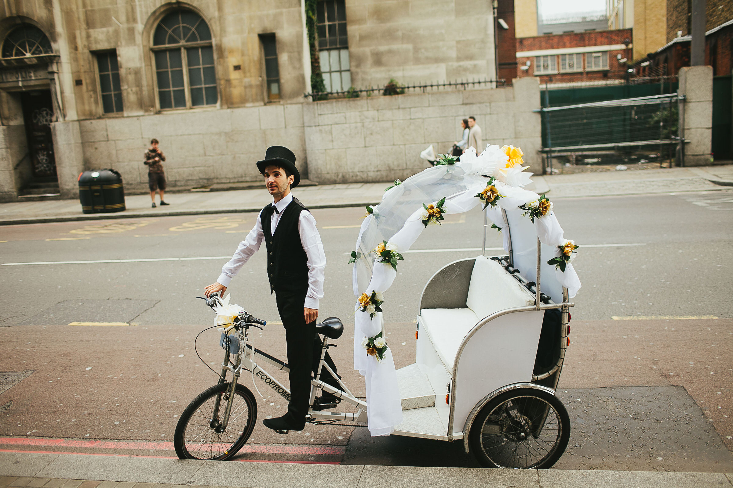 wedding rickshaw london