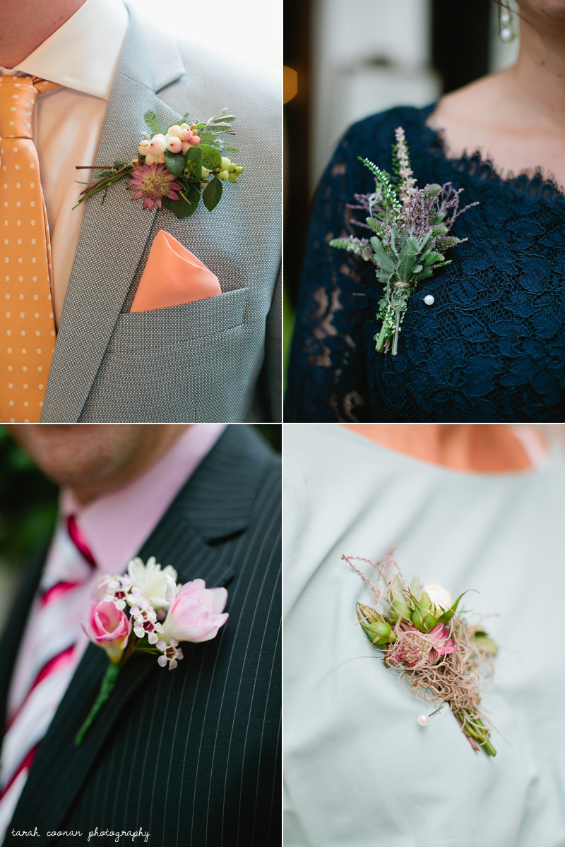 natural flower boutonniere