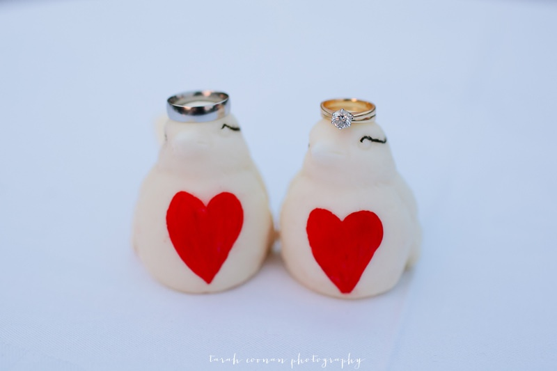 wedding ring bird hearts