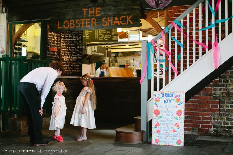 the lobster shack whitstable wedding