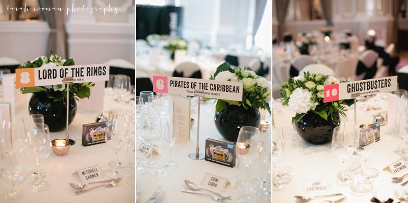 movie wedding tables