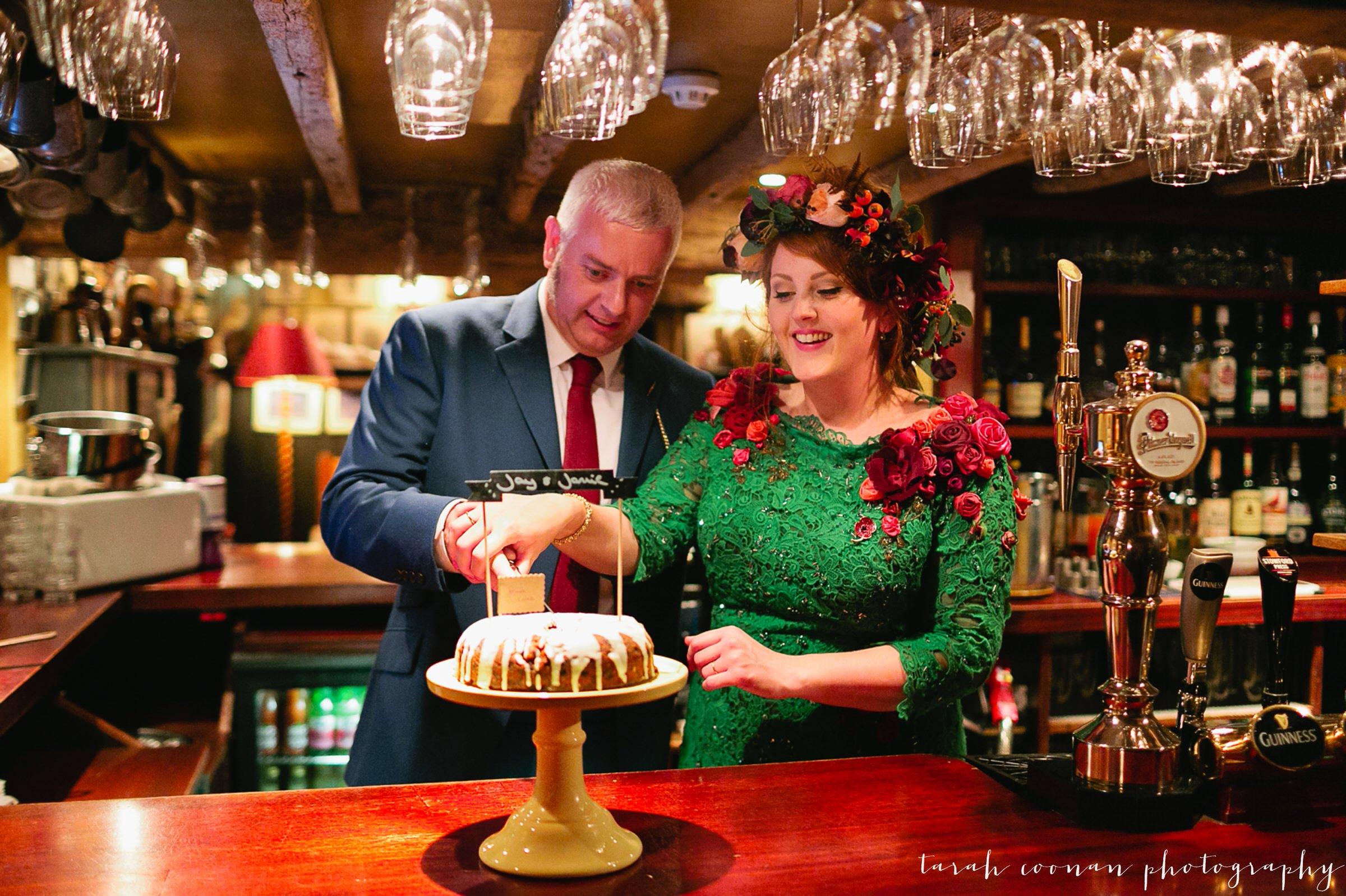 wedding pub flower crown