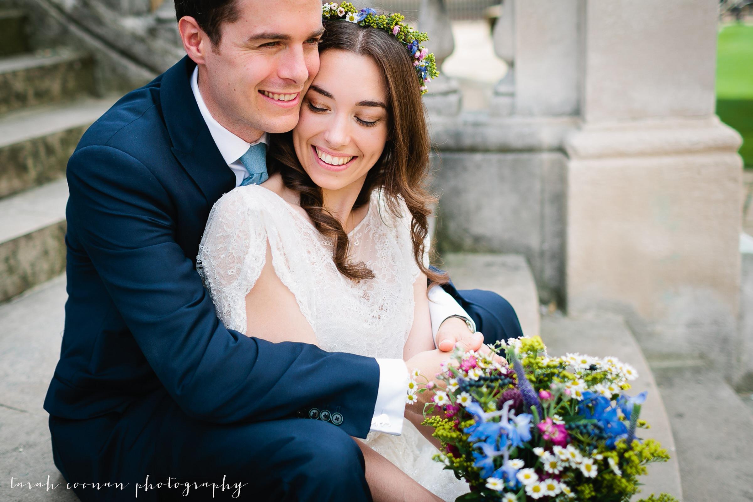 flower crown bride natural flowers
