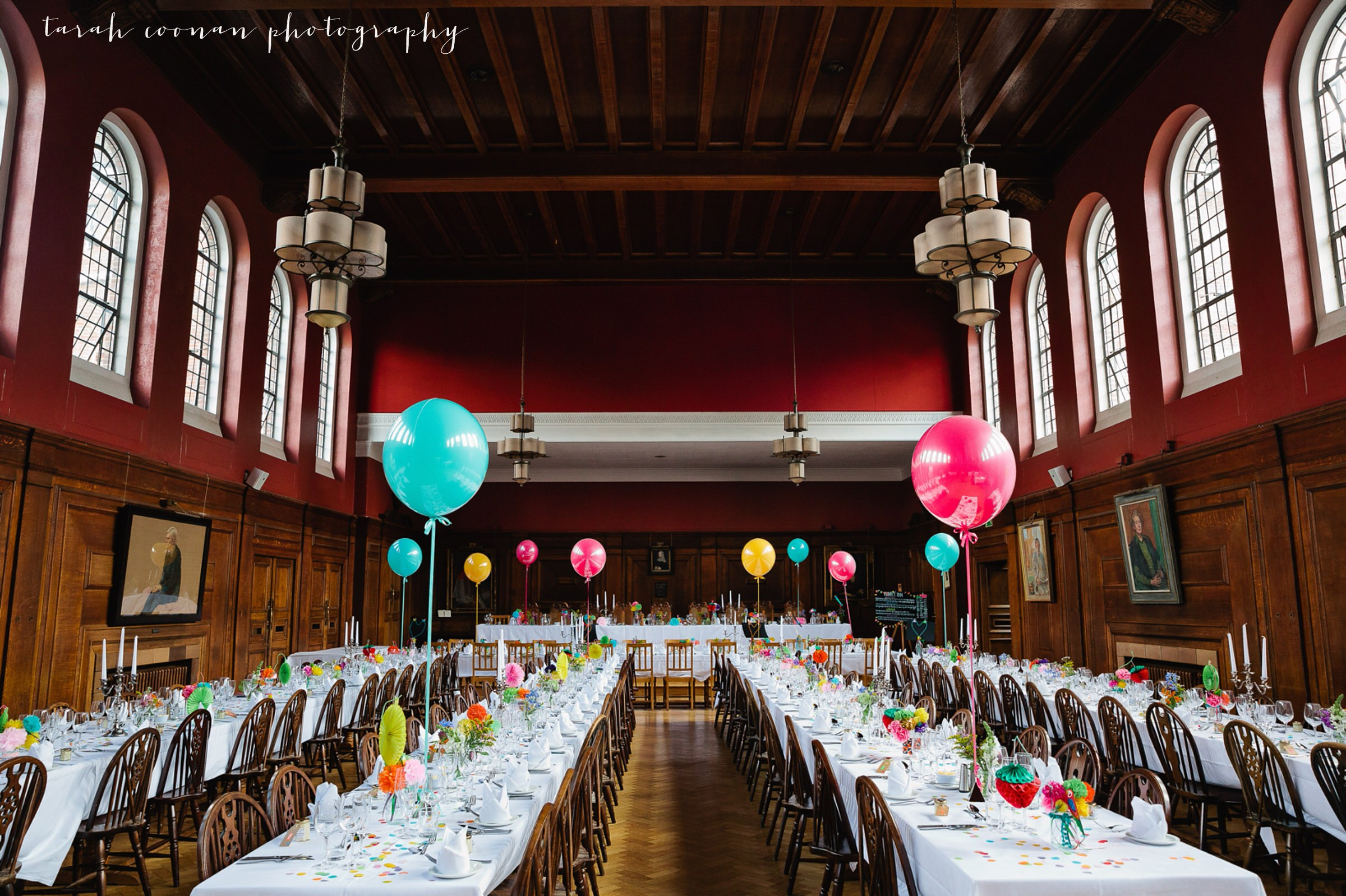 Lady Margaret Hall wedding reception