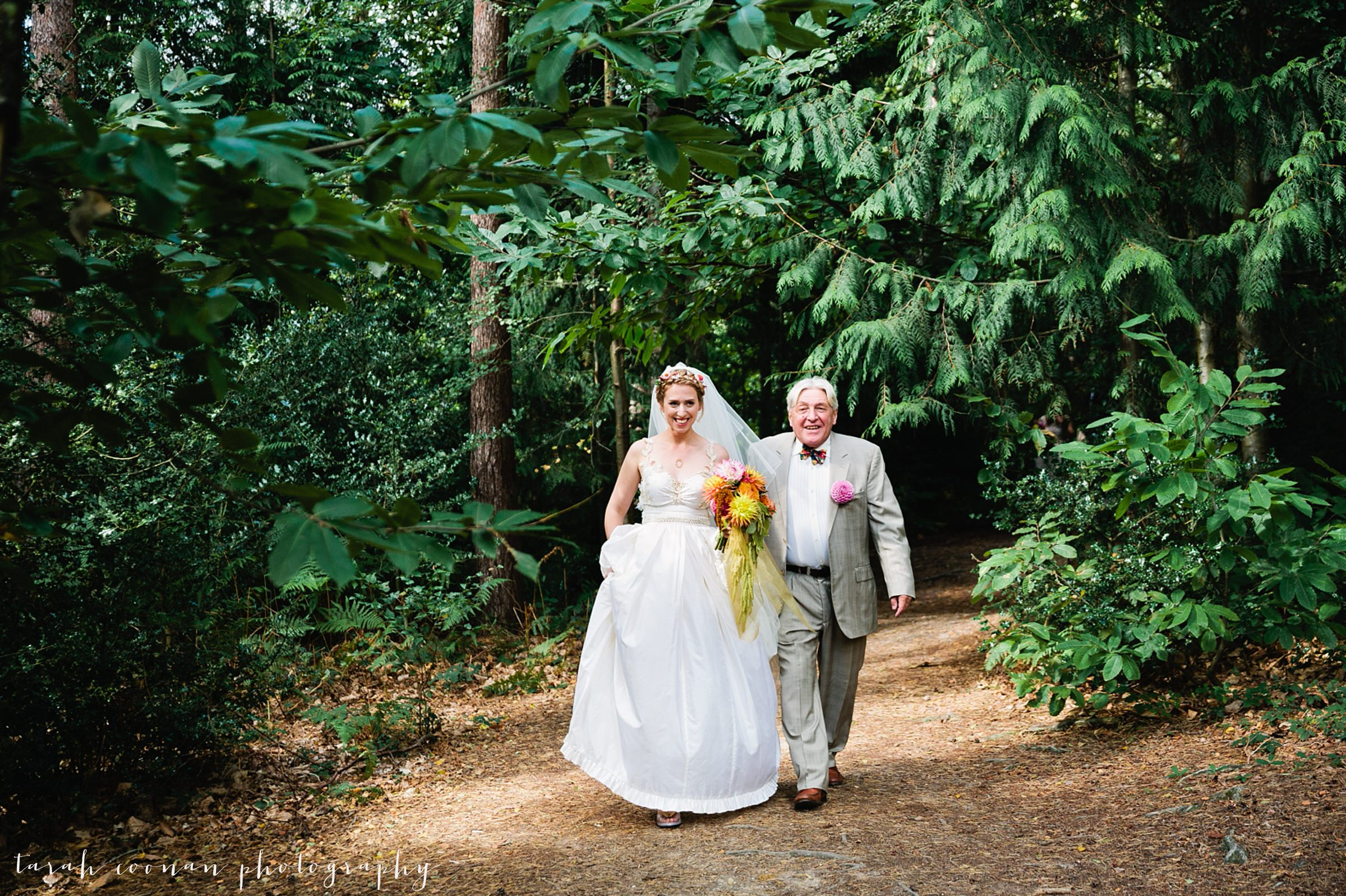 wedding in a wood