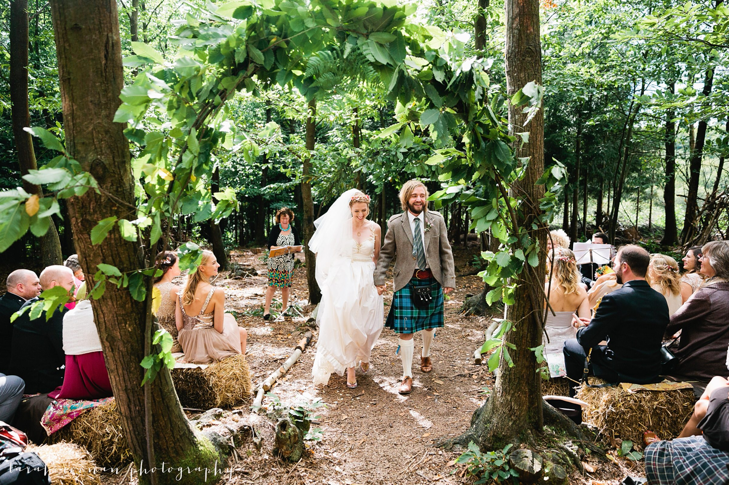 woodland wedding arch