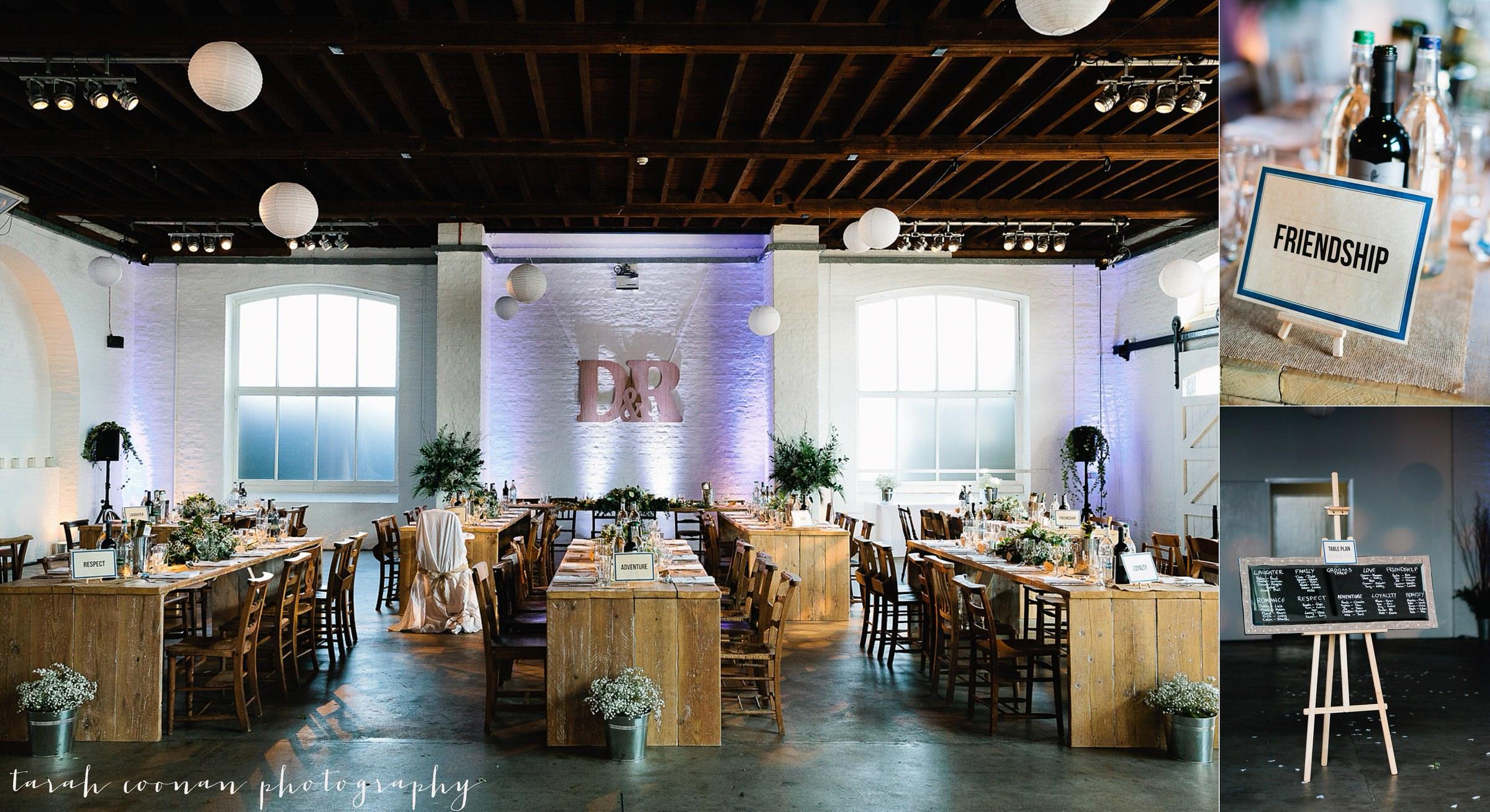 London warehouse wedding