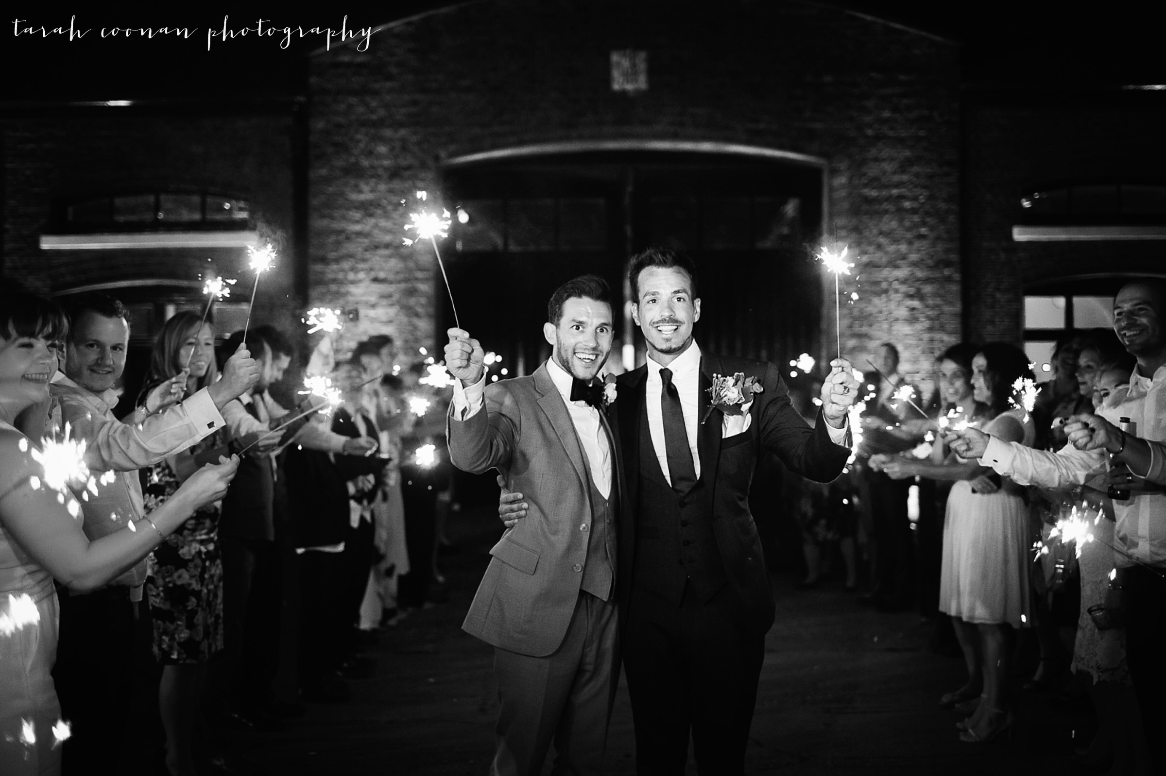 london wedding sparklers