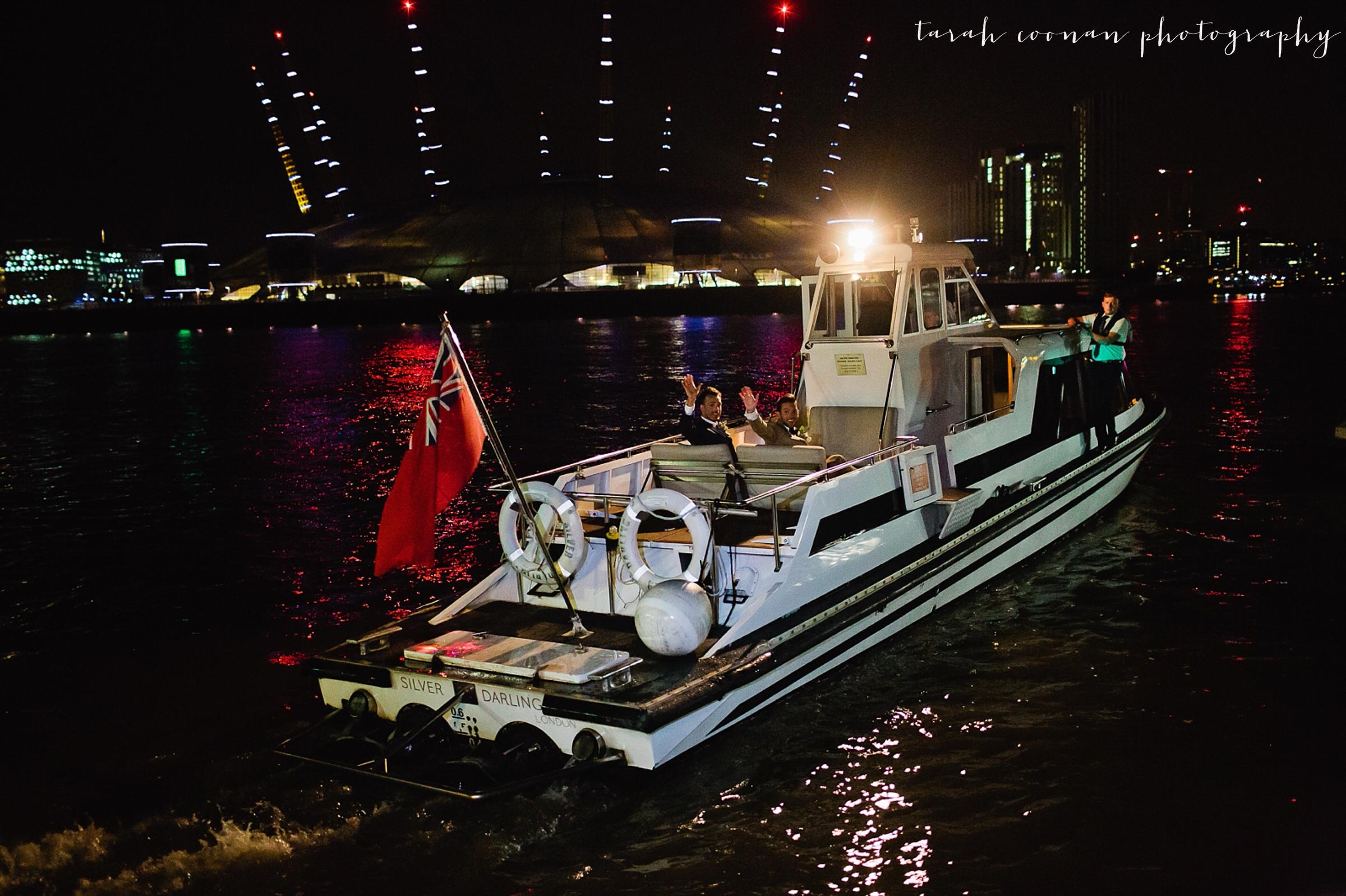 wedding boat exit james bond