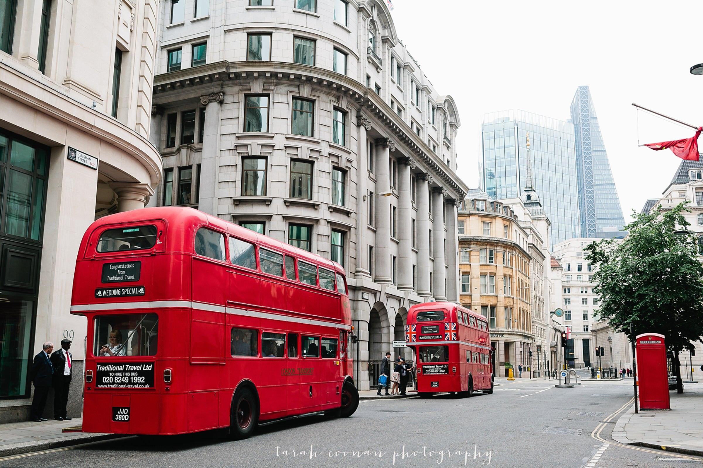 routemaster bus london wedding