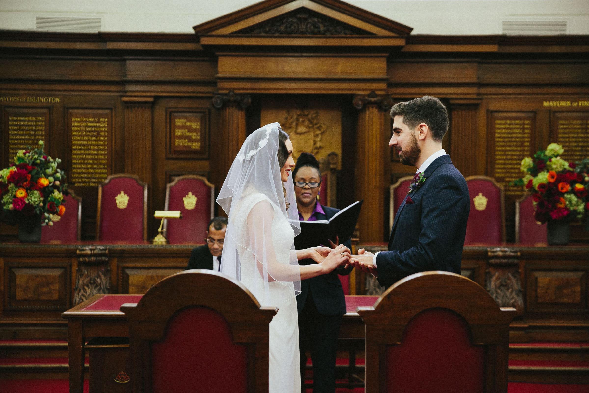 Islington Town Hall ceremony