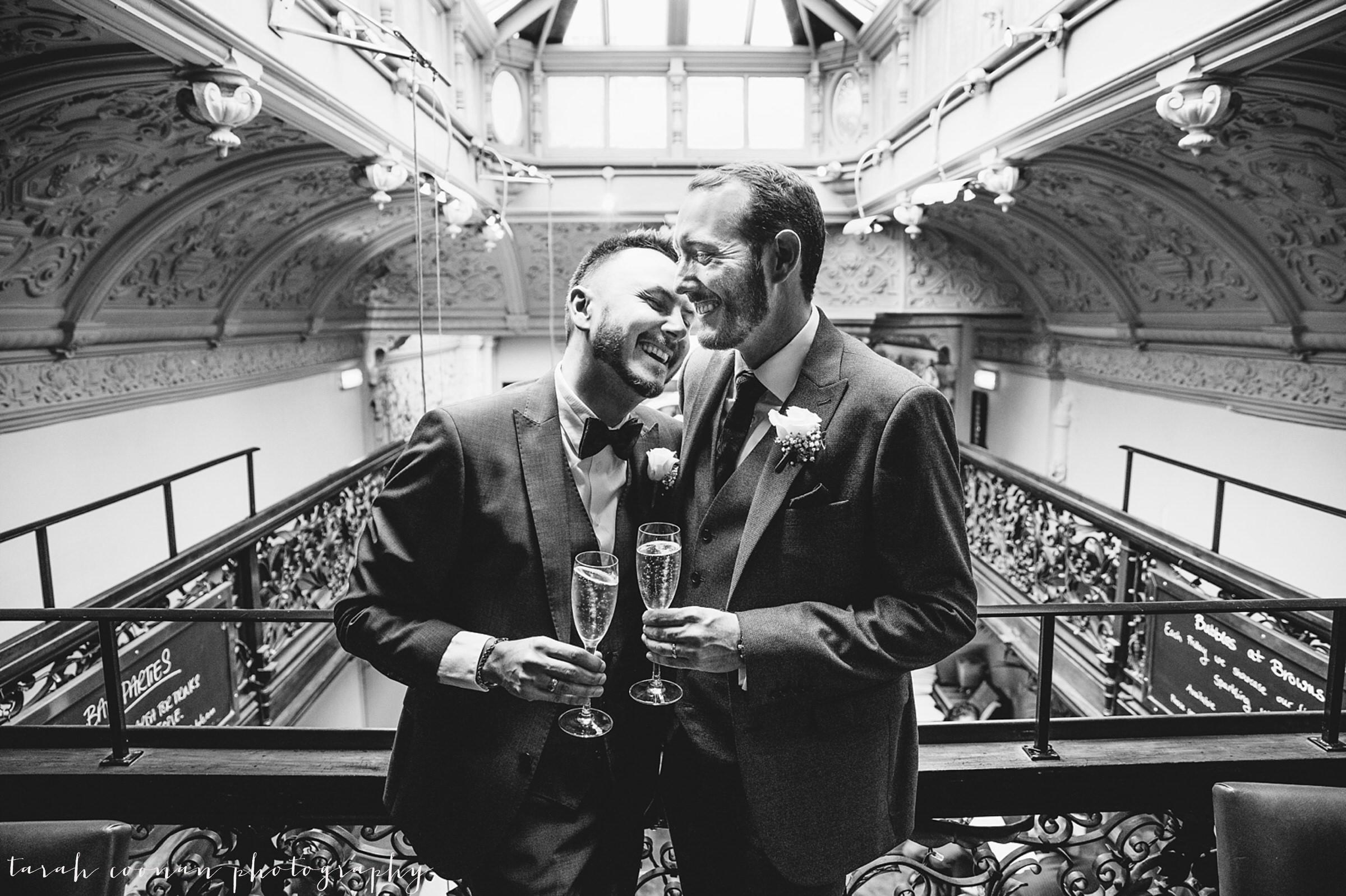 Gay wedding pose