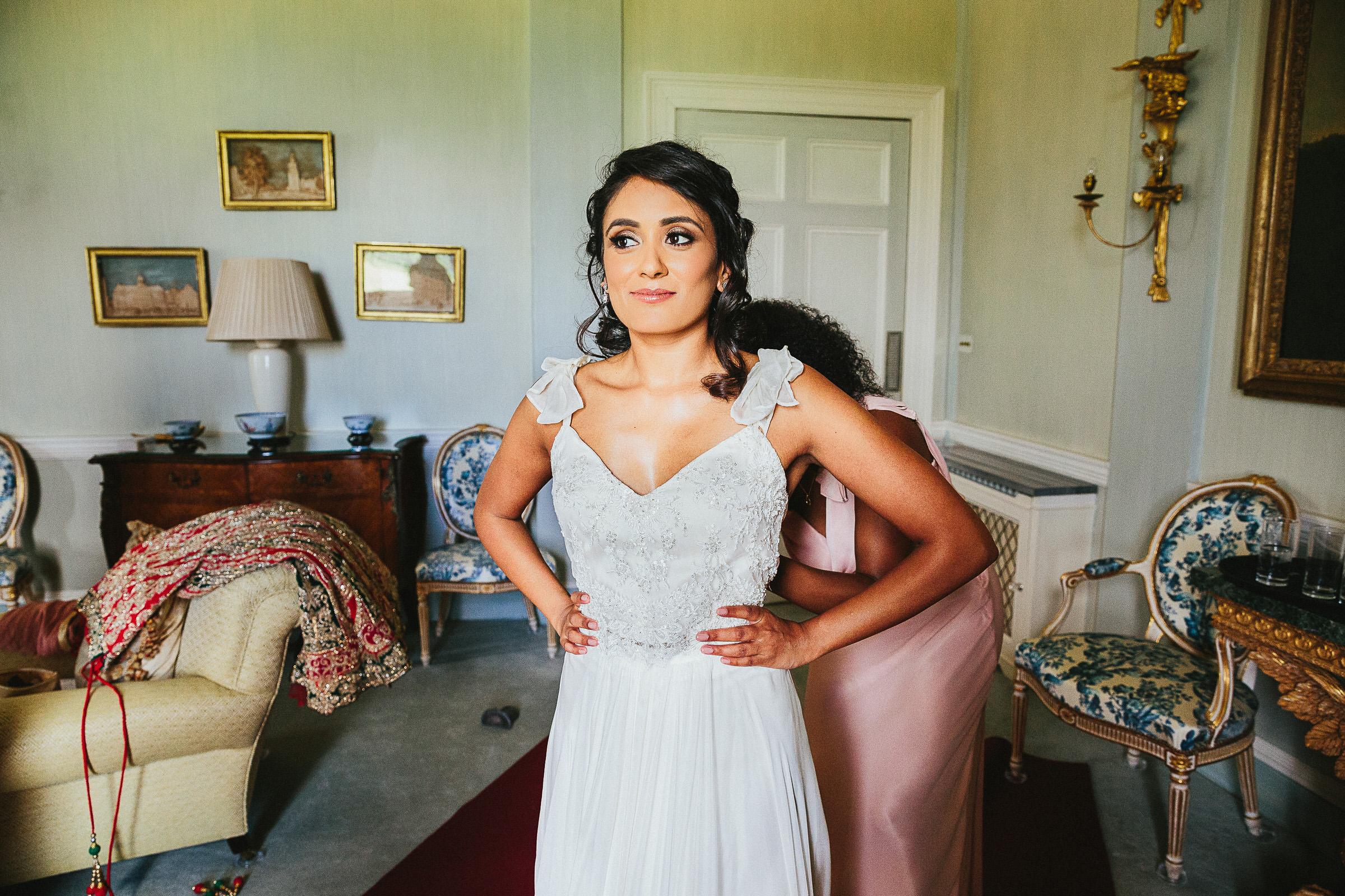 Indian bride white wedding