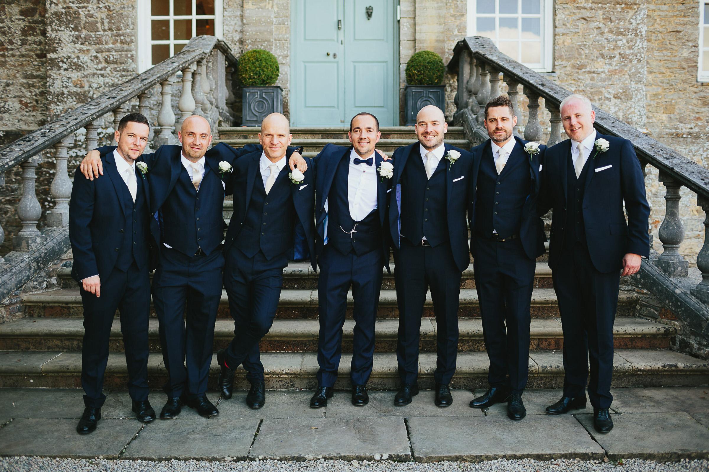 black tie wedding devon