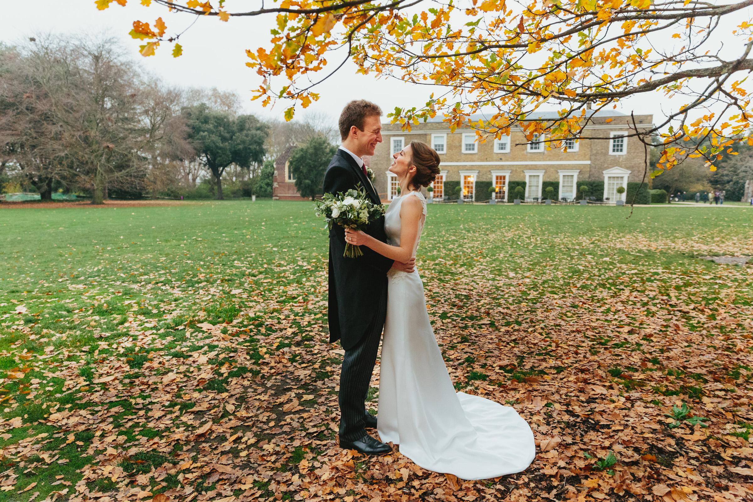 Fulham Palace autumn wedding