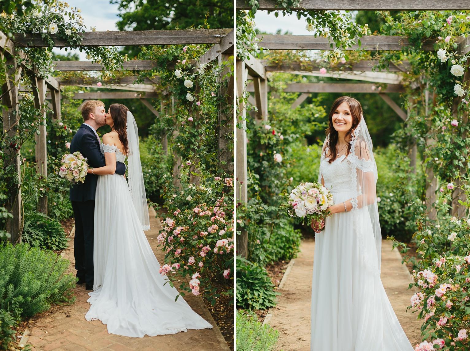 London garden wedding