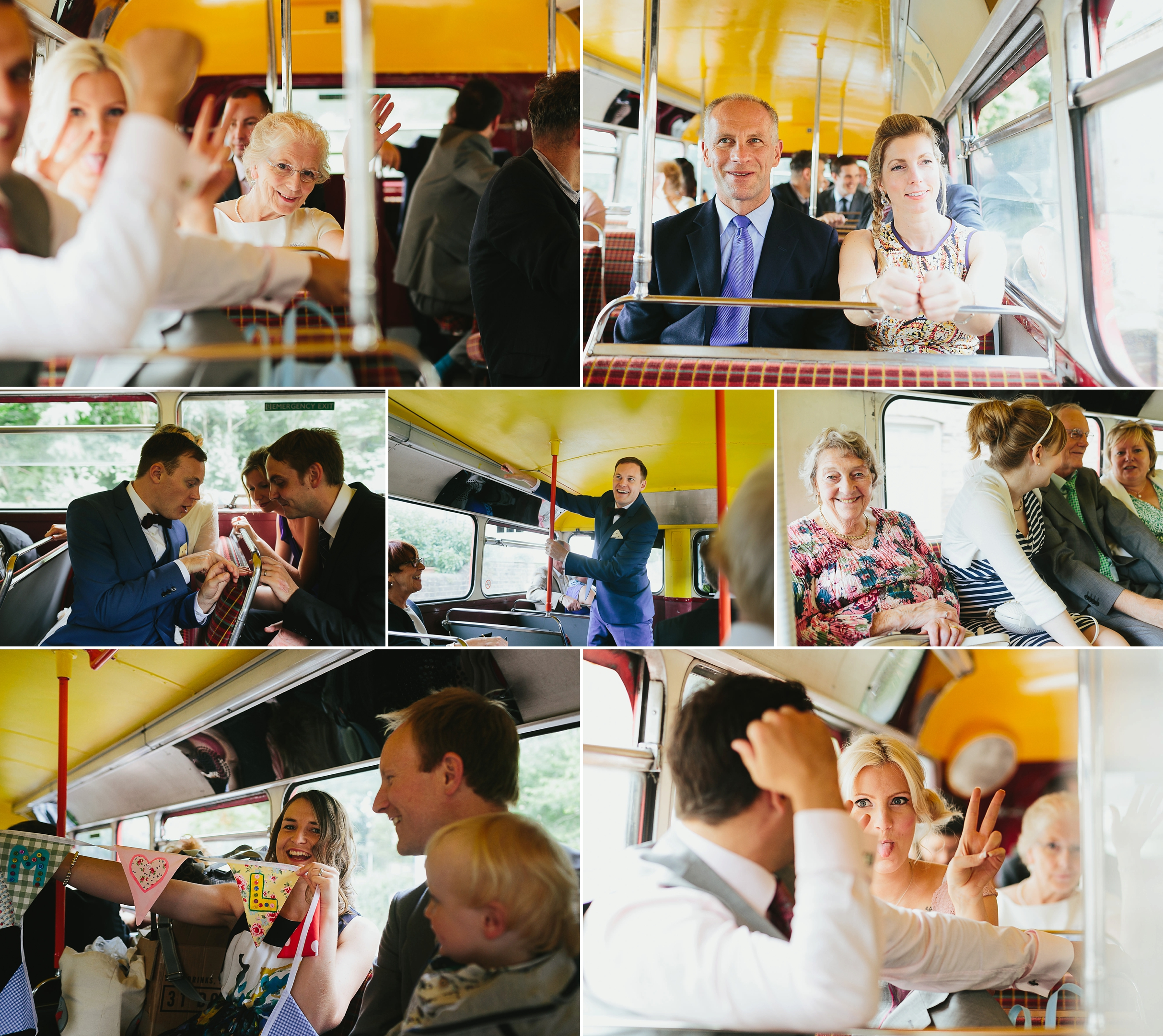 london bus wedding