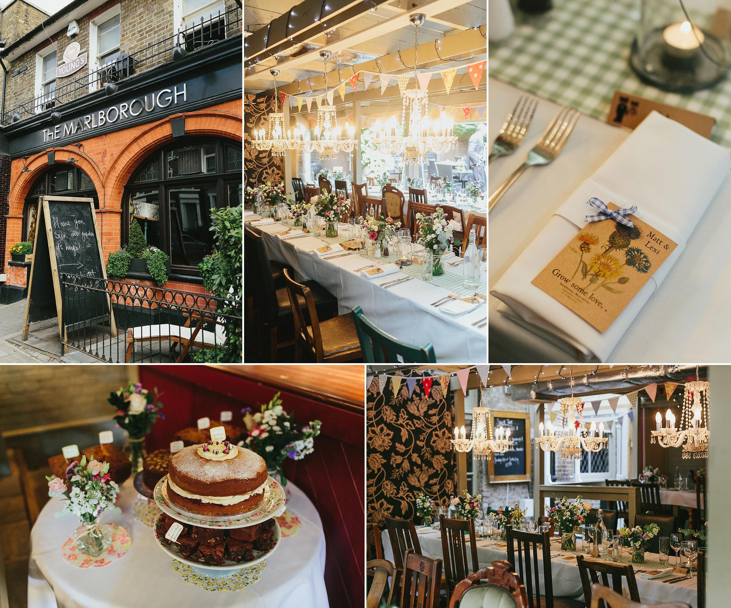 the marlborough pub richmond wedding